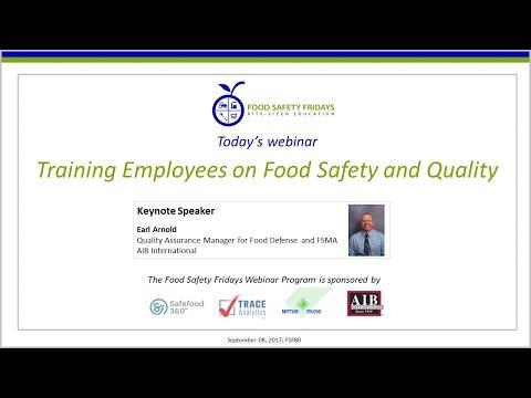 food safety fridays webinars international food safety