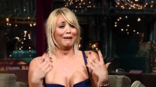 Kaley Cuoco on David Letterman