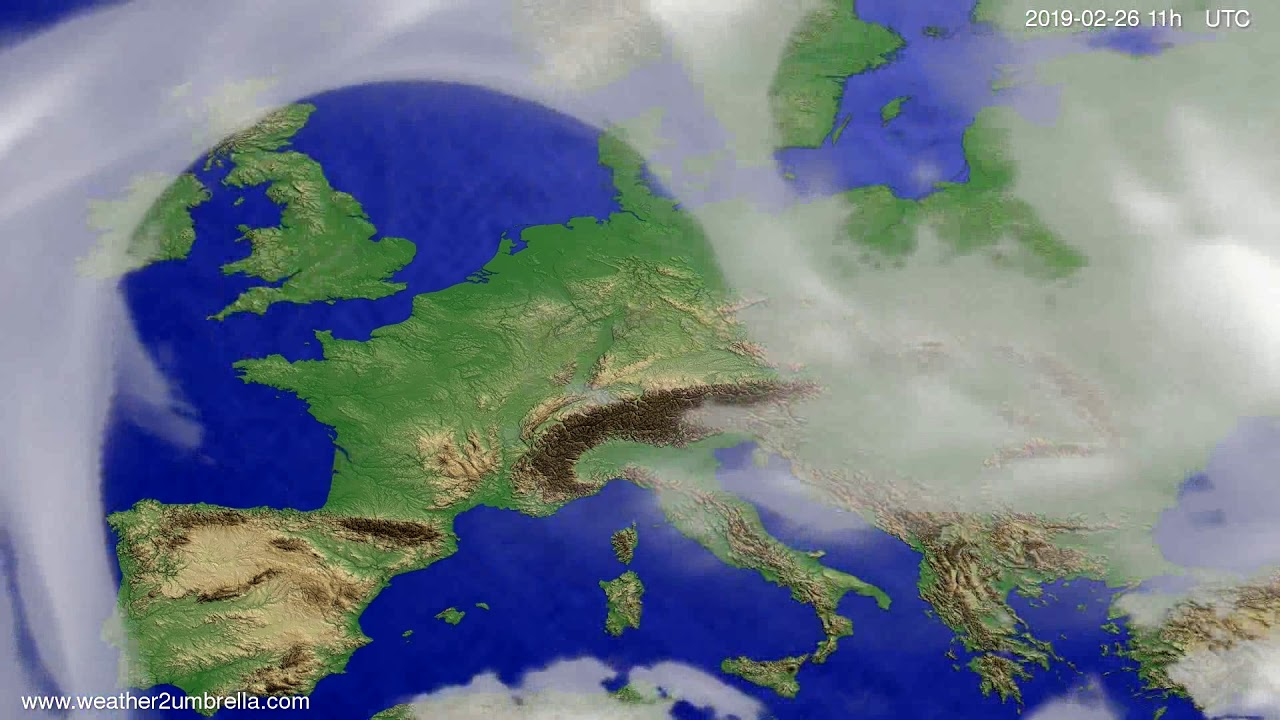 #Weather_Forecast// Cloud forecast Europe 2019-02-25