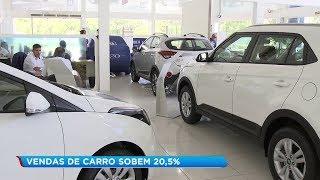 Cresce mais de 20% a venda de carros novos em 2019