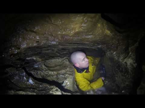 Guy get's stuck in while crawling through incredibly small cave