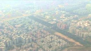 Sky scrapers in the Metro city of Delhi-Gurgaon as seen aerially!