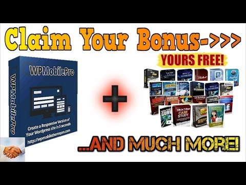 WP Mobile Pro ✔ $$ HUGE BoNuS $$ ✔ Discount