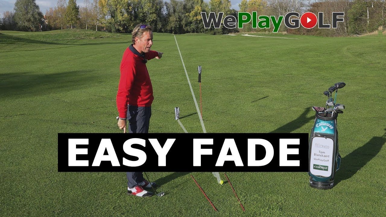Easy tip to fade the golf ball