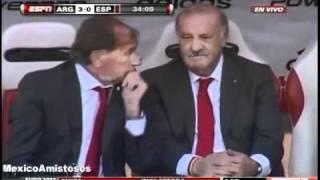 Argentina vs Spain 4-1 070910 All Goals AMISTOSO