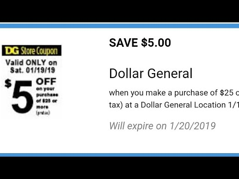 Dollar General $5 Off Of $25 Deal (sorry About The Delay In The Video I Couldn't Fix It 😭)