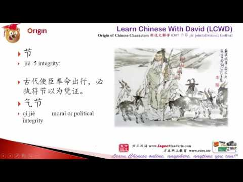 Origin of Chinese Characters - 0307 节節 jié joint;division; festival - Learn Chinese with Flash Cards