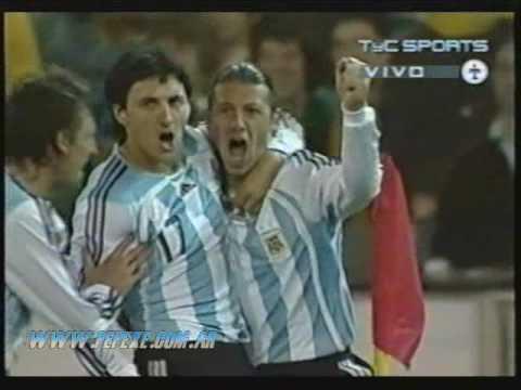 Gol de Martin Demichelis con Argentina