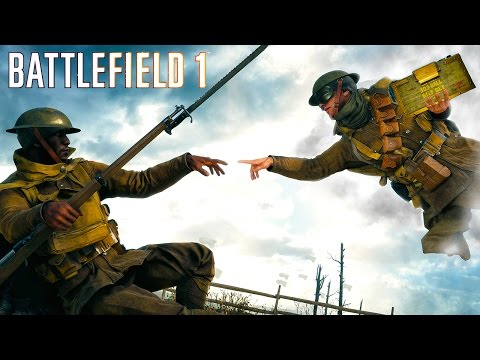 Battlefield 1 - Random & Funny Moments #12 (Ricochet Soldiers, Funny Killcams!) (видео)