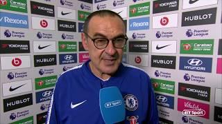 "Video ""Hazard at striker is a very good option!"" Mauricio Sarri speaks after first win over Pep Guardiola MP3, 3GP, MP4, WEBM, AVI, FLV Desember 2018"