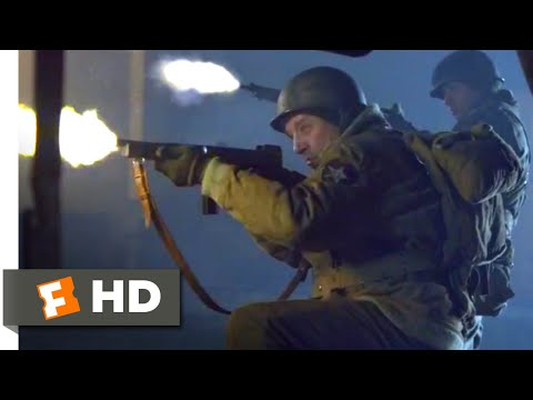 Company of Heroes (2013) - Train Yard Shootout Scene (4/10) | Movieclips