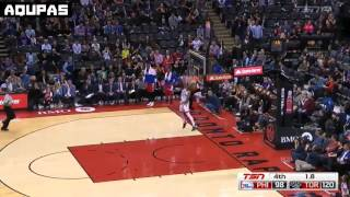NBA 2015-16 Norman Powell Wind Mill Dunk Sixers@Raptors April 12, 2016