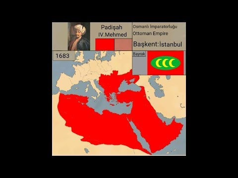 Osmanlı İmparatorluğu kuruluştan yıkılışa-Rise and fall Ottoman Empire(1299-1922)-[Harita]