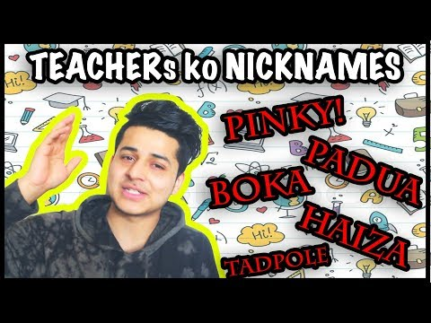 (Teachers ko nickname in school....6 minutes, 1 second.)