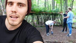Video We All Built A Hut & Slept In The Woods! MP3, 3GP, MP4, WEBM, AVI, FLV Oktober 2018