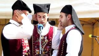 The Tenores Santu Franziscu of Sardinia, combined throat singing in Tartu, Estonia at Europeade 2011.
