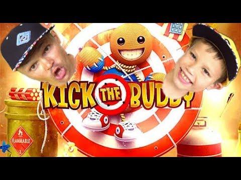 Непобедимый чувачек в Kick the buddy (видео)