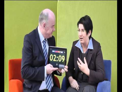 Gabriela Mercik, HEBE Clinic, takes the 60 second challenge with Omagh Enterprise Company