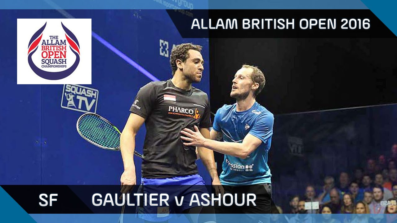 Squash: Gaultier v Ashour – Allam British Open 2016 – Men's SF Highlights