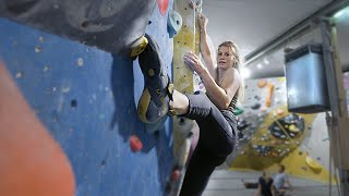 Norea Is finally back! Climbing on Nikkens tricky problems. by Eric Karlsson Bouldering
