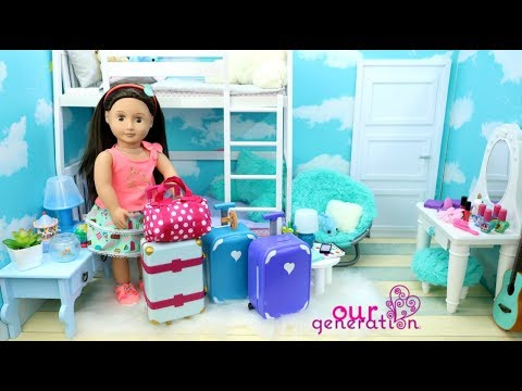 Doll Bunk Bed Bedroom & Packing My Dolls Bags for Vacation