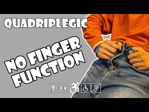 Buttoning Pants Without Finger Function - How To | Quadriplegic (C5,C6,C7)