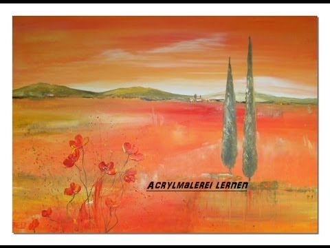 Acrylmalerei lernen  Toskana Acrylic Speed Painting by Sabine Belz
