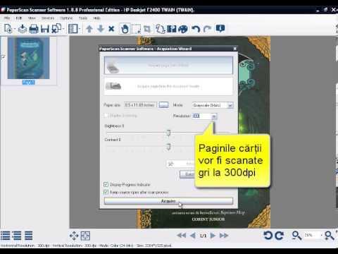 Orpalis PaperScan: Scanare în fereastră