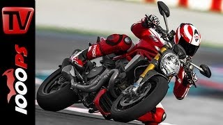 3. First Review | Prueba | Ducati Monster 1200 S 2014 - Action, Wheelies, Sound + Español