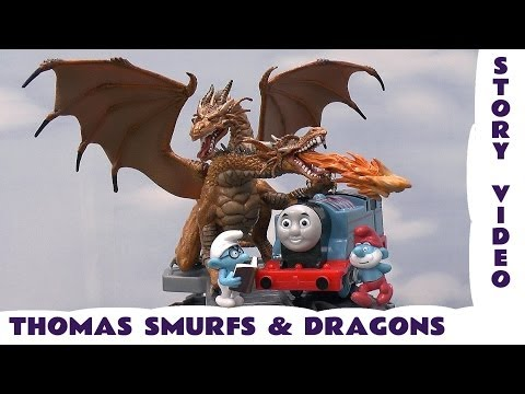 Thomas and The Dragons Story, The Smurfs Kids Thomas The Tank Engine Toy Story Dragon Monsters Smurf