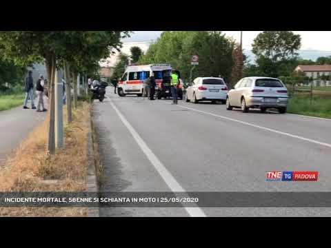 INCIDENTE MORTALE, 56ENNE SI SCHIANTA IN MOTO   25/05/2020