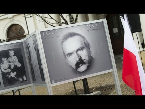 Otwarcie wystawy poświęconej J. Piłsudskiemu