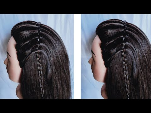 New hairstyle - Most Amazing waterfall hairstyle  new best easy hairstyle  beautiful hairstyle for girls
