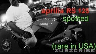 7. Aprilia RS125 Spotted - USA (Street legal)