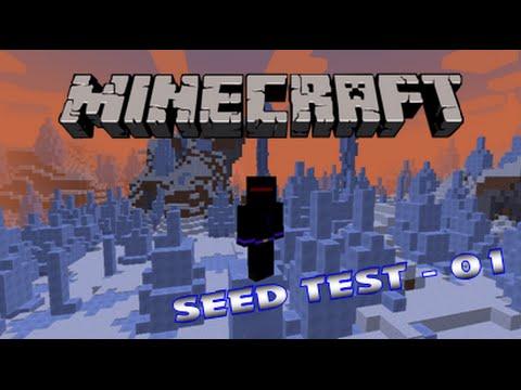 Minecraft Seed Test #01 - Ne Menge Schnee und Eiszapfen