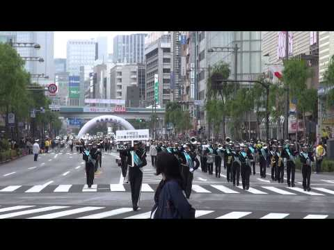 中央区立日本橋中学校吹奏楽部@2014 銀座柳まつり
