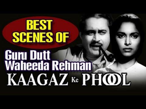 Guru Dutt And Waheeda Rehman Best Scenes - Kaagaz Ke Phool