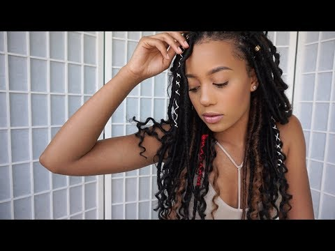 My Goddess Locs! No Cornrows L Beginner Talk Feat. Goddess Braid By Zury