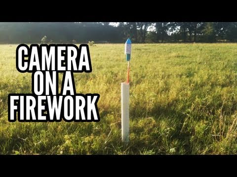 Wide Angle Camera Mounted on Firework POV