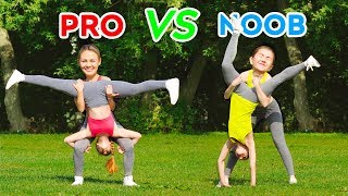Video IMPOSSIBLE ACROBATICS CHALLENGE! PRO vs NOOB Spin the Mystery Wheel || Gymnastic Tricks MP3, 3GP, MP4, WEBM, AVI, FLV September 2019