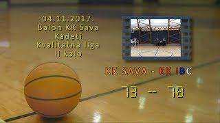 kk sava kk ibc 73 78 (kadeti, 04 11 2017 ) košarkaški klub sava