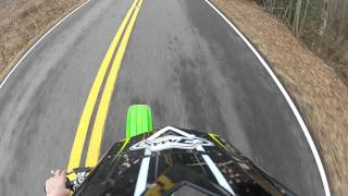 9. 2012 Kx100 top speed!