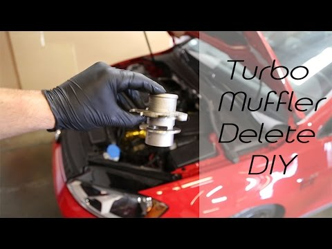 DIY MQB Turbo Outlet (Muffler Delete) Removal & Install (Audi/Volkswagen GTI/Golf R/A3/S3)
