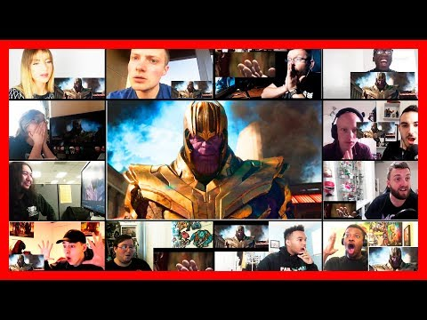 Avengers Infinity War Official Trailer Reaction Mashup (видео)