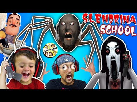 Escape Slendrina's School & Spider Granny House + Creepy Phone Calls w/ FGTEEV Duddy & Shawn - Thời lượng: 14 phút.
