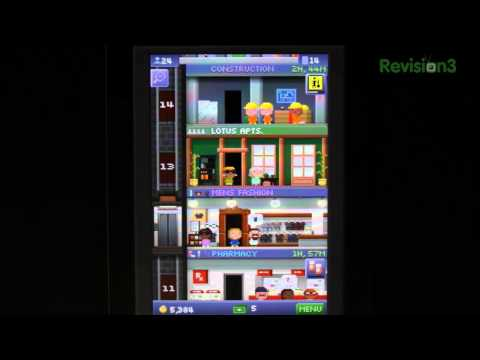 Tiny Tower - Jon Q takes a look at a pixellated Sim City-ish game that won the title of iPad