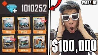 ¡COMPRO 1 MILLÓN DE DIAMANTES y TENGO LA CUENTA MÁS CHETADA de FREE FIRE! *+$100,000 pesos*