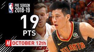 Jeremy Lin Full Highlights Hawks vs Heat 2018.10.12 - 19 Points off the Bench!