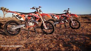 7. First Ride 2015 KTM 150SX & KTM 250SX 2 strokes