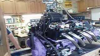10. Custom Supercharged Honda Motorcycle V8 Engine